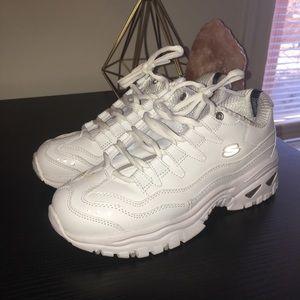 Skechers White Chunky Sneakers
